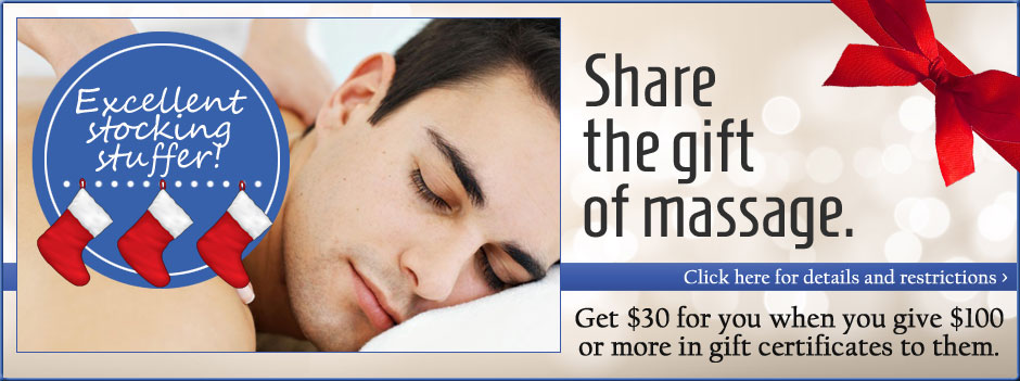 Get $30 for you when you give $100 or more in gift certificates to them.
